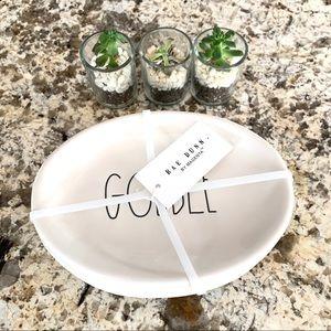 """Rae Dunn Gobble Appetizer Plates - Set of 4, 8"""""""